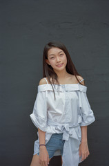Asian young teenager portrait