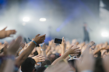 Taking photo, video, life streaming at concert