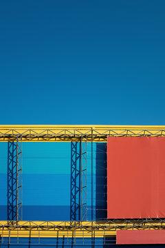 Vivid colors of urbanism