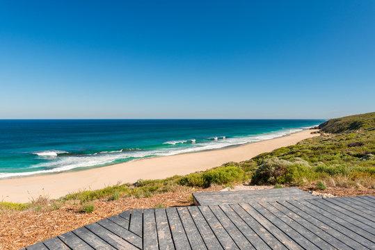 Summer beach lookout Yallingup Western Australia