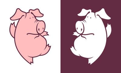Dancing pig character