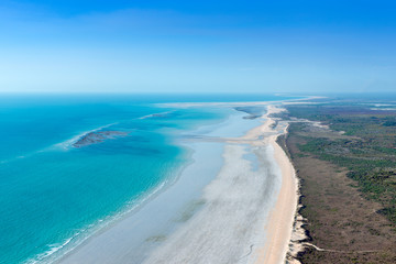 aerial view of cable beach Broome