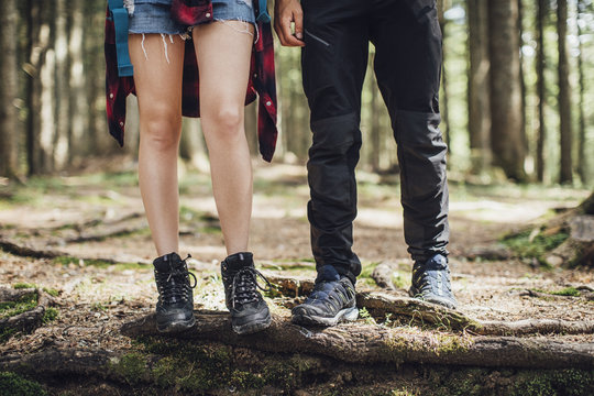 Couple Hiking Together