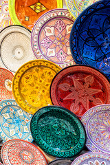 Traditional Moroccan ceramic dishes