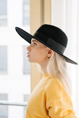 Pretty woman in hat