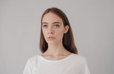 Beauty portrait with gorgeous model