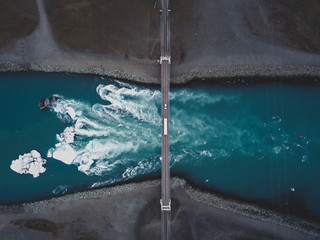Jokulsarlon glacier lagoon. Iceland