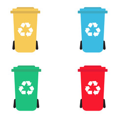 Recycling waste bins set