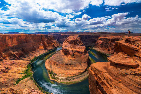 アメリカ アリゾナ ホースシューベンド 峡谷