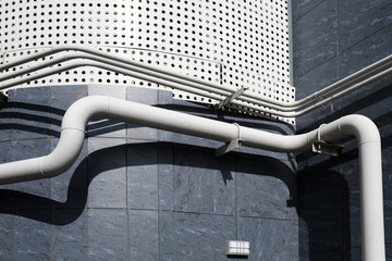 Pipes on modern building