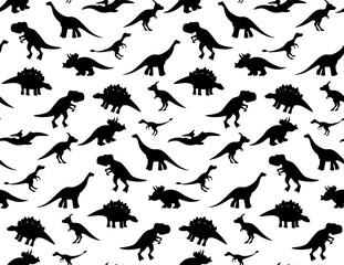 Black and white dino pattern