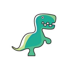 Dinosaur green logo design