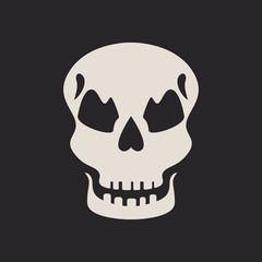 Evil skull icon