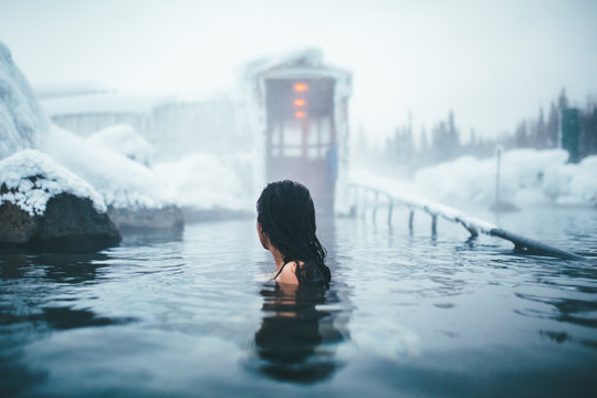 Woman in Alaskan Hotsprings