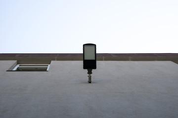 led lantern on the wall