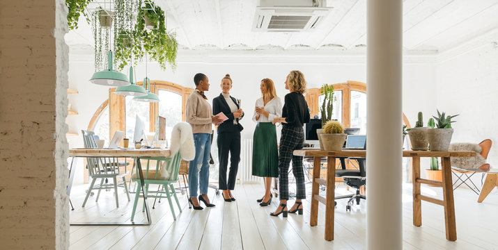 Female teamwork working at office.