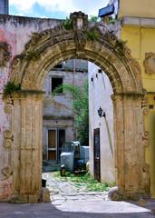 characteristic historic buildings nardò salento italy