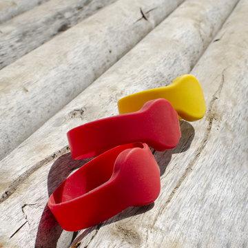 colored bracelets  chip