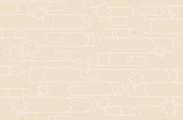 Japanese traditional pattern kimono cloud wave Maple background beigi