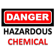 Signs of danger to be aware of chemical
