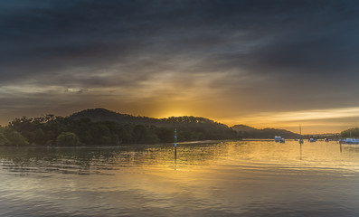 Sunrise and Atmosphere - Waterscape on the Bay