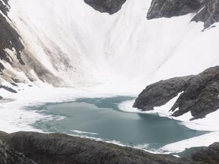 Small Glacial Lake Near Mendenhall Glacier, Alaska