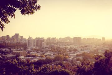 Santiago city aerial view, Chile