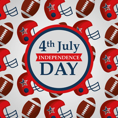 4 july american independence day badge on sport background vector illustration