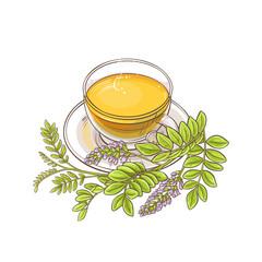 licorice tea illustration