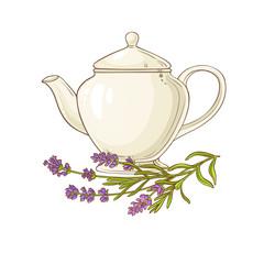 lavender tea illustration