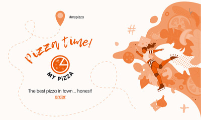 Web banner for pizza shop