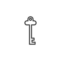 Vintage Key Outline Icon Linear Style Sign For Mobile Concept And Web Design Password