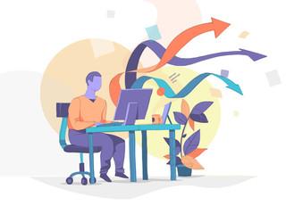 Lavoro Multi-Tasking in Ufficio