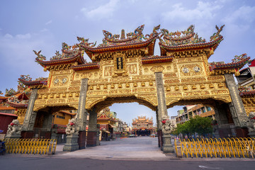 donggang, pingtung,taiwan - June 1,2018 :  Dong-Long Temple Faith which is culture center in donggang in pingtung