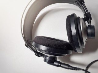 professional headphones with cable