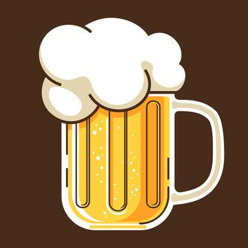 beer mug cateoon style