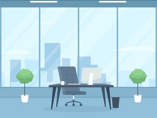 Empty modern office interior.