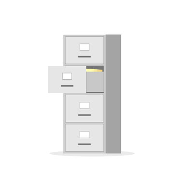 File cabinet with four drawer