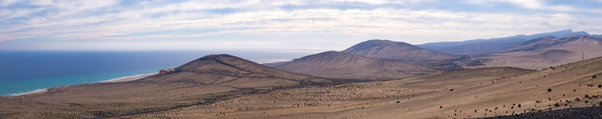 Panorama of the mountain range in the Canary Islands Spain