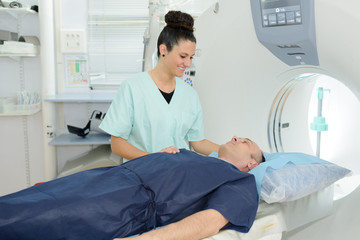 patient under examination