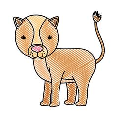 doodle cute female lion wild animal