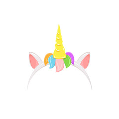Unicorn headband with rainbow hair