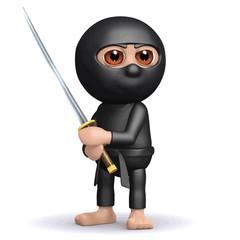 Vector 3d Ninja ready