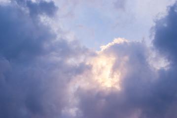 beautiful clouds on sunset sky. Beauty world.