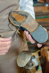 Gluing on new soles