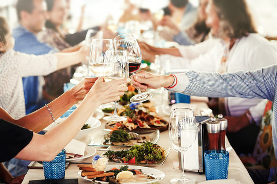 Party Celebration Success Concept . People Cheers Celebration Toast Happiness .