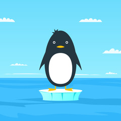 Simple cartoon penguin