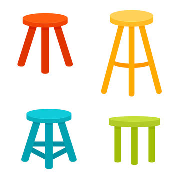Three legged stool set.