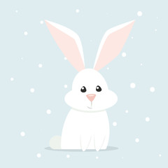 Arctic hare vector