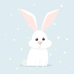 Arctic hare vector